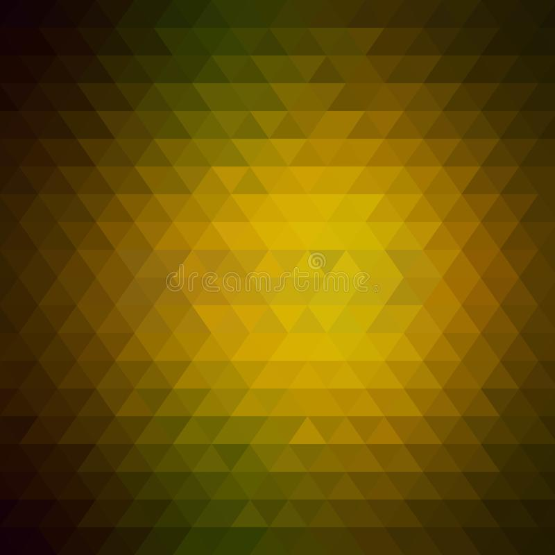 Fond triangulaire couleur brune d'or Style polygonal ENV 10 illustration stock