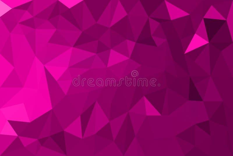 Fond triangulaire géométrique abstrait rose de graphique d'illustration de style de polygone illustration libre de droits