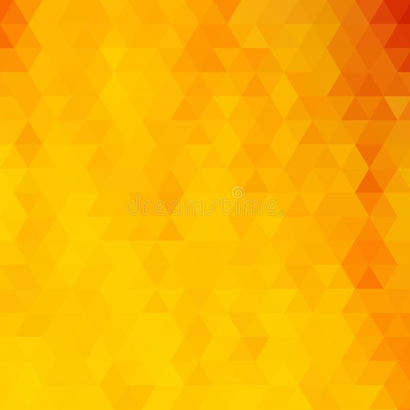 Fond triangulaire jaune lumineux illustration abstraite de vecteur ENV 10 illustration de vecteur