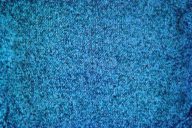 Fond tricoté de modèle de texture de bleu de turquoise images libres de droits
