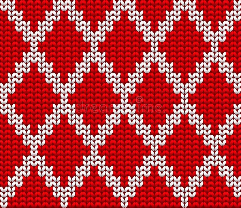 Fond tricoté de vecteur de laine illustration libre de droits