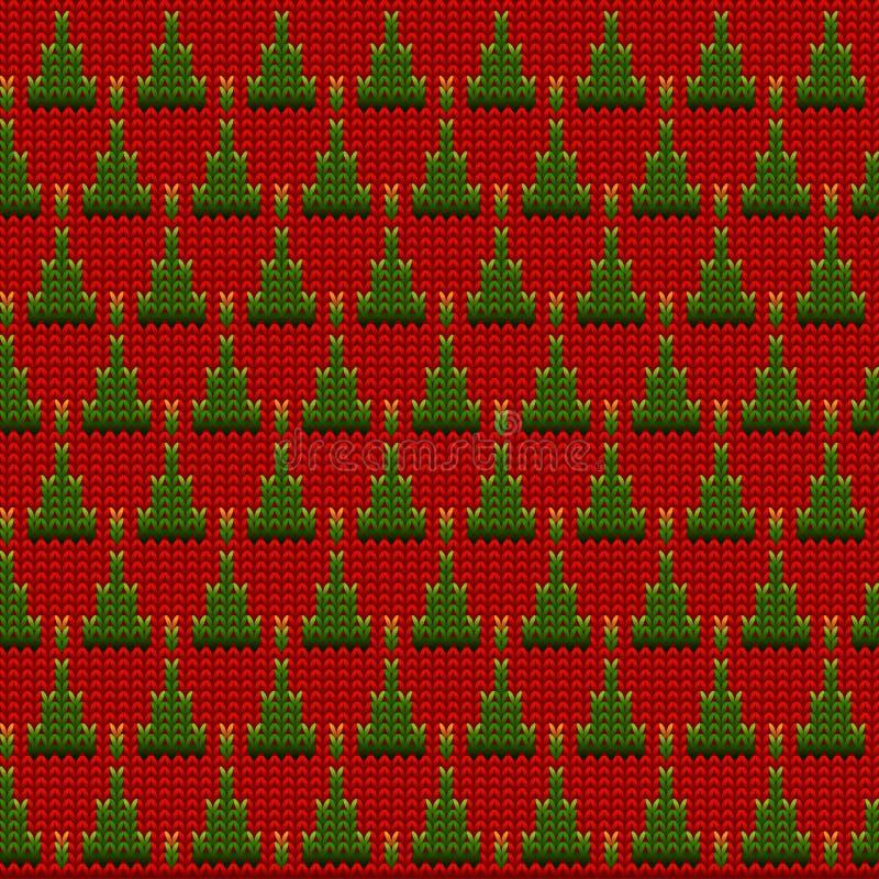 Fond tricoté de vecteur de laine illustration stock