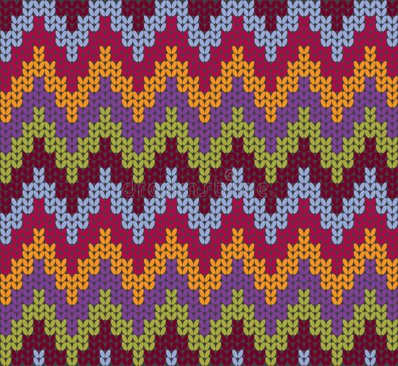 Fond tricoté de vecteur de laines illustration de vecteur