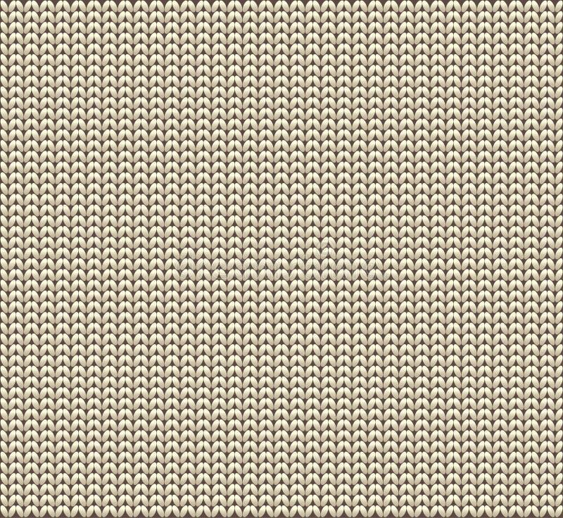 Fond tricoté de vecteur de laines illustration stock