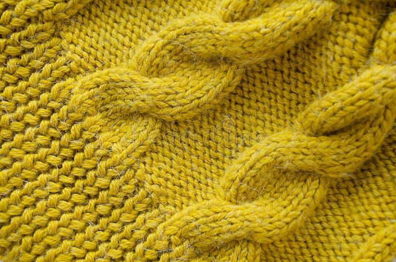 Fond tricoté Texture tricotée modèle de tricotage de laine photo libre de droits