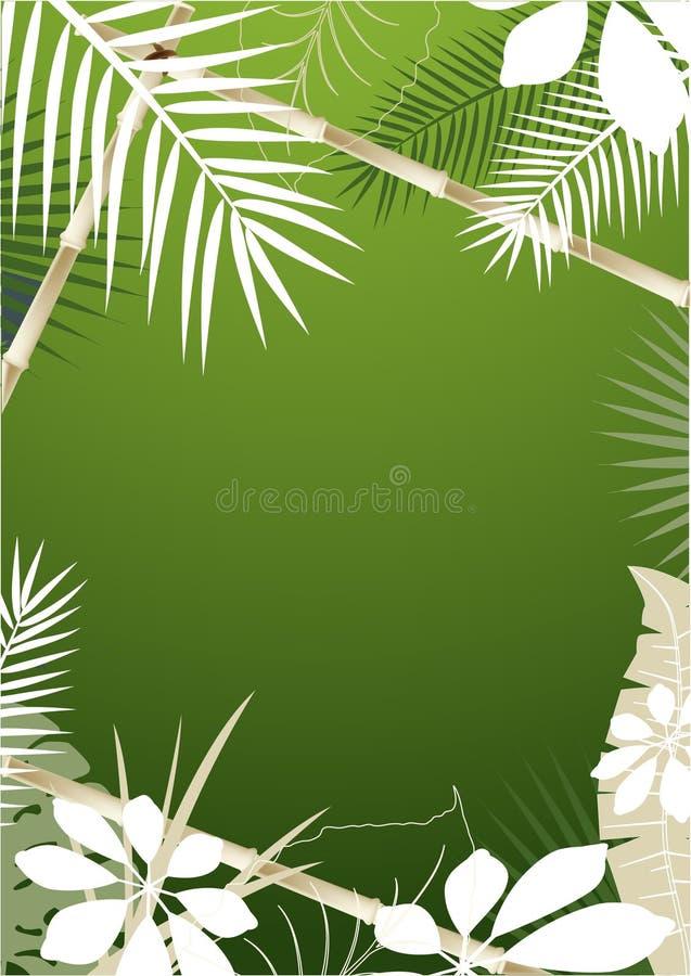 Fond tropical illustration de vecteur