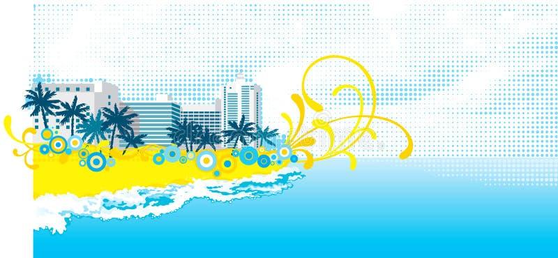 Fond tropical illustration stock
