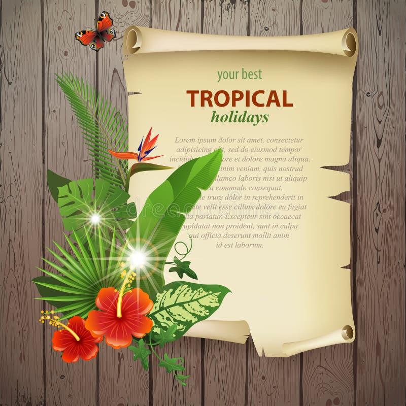 Fond tropical illustration libre de droits
