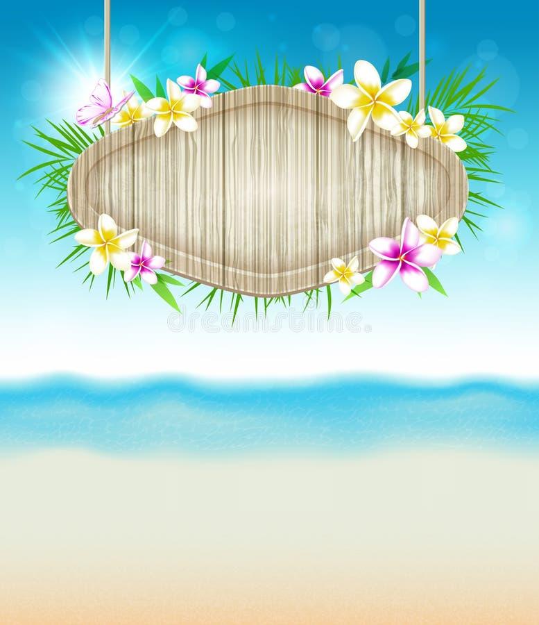 Fond tropical d'été illustration stock