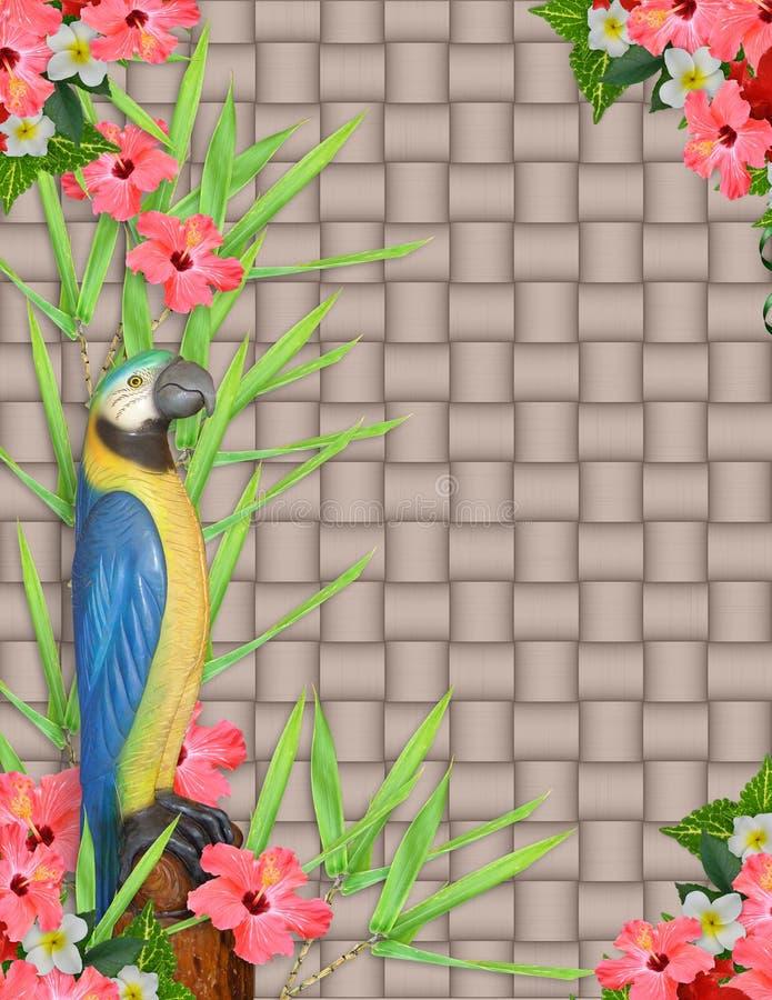 Fond tropical d'invitation de Luau illustration de vecteur