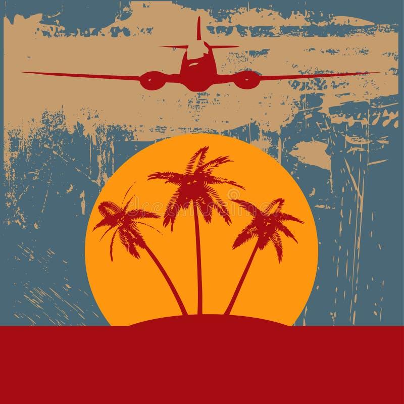 Fond tropical de plage illustration libre de droits