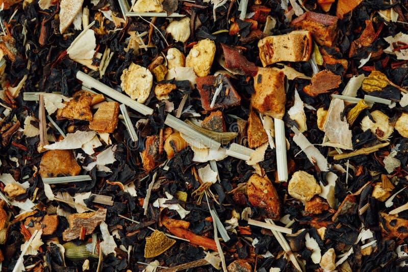 Fond tropical de thé de fruits secs photographie stock libre de droits