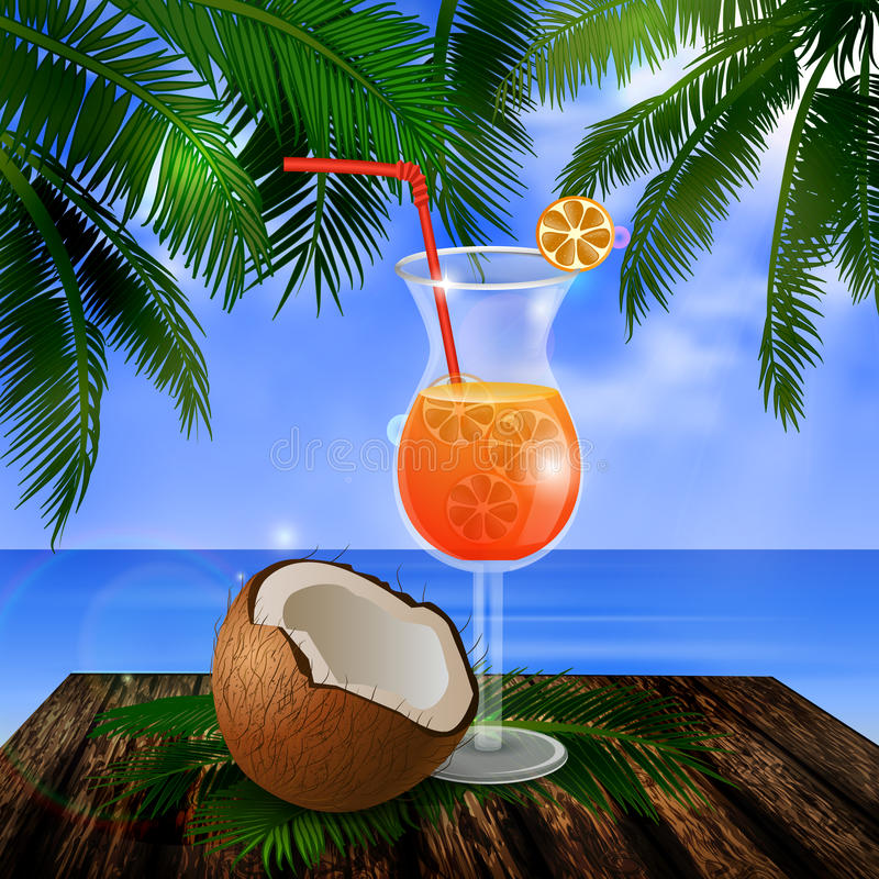 Fond tropical de vecteur illustration stock