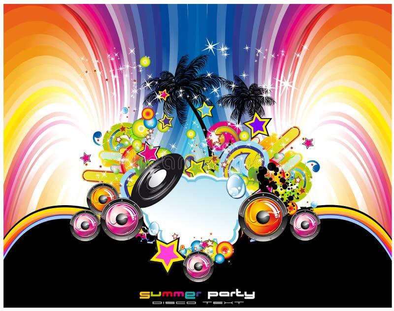 Fond tropical et latin abstrait d'événement de musique illustration stock