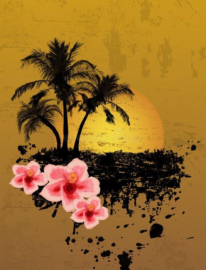 Fond tropical grunge illustration de vecteur