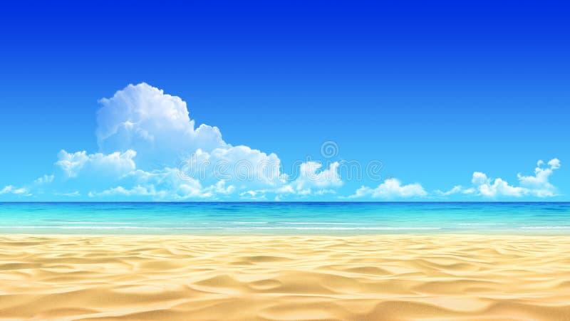 Fond tropical idyllique de plage de sable photographie stock libre de droits