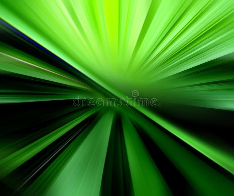 Fond trouble abstrait dans des sons verts illustration de vecteur