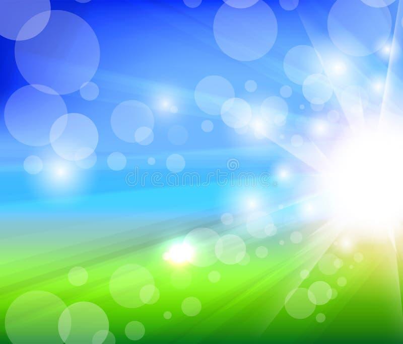 Fond trouble d'été de lumière du soleil illustration libre de droits