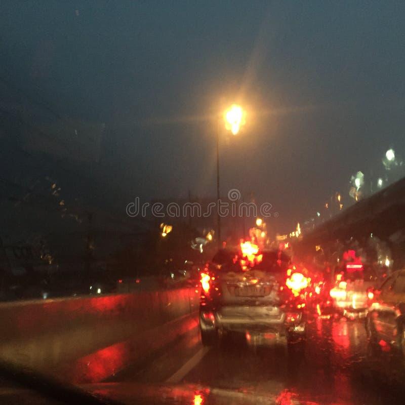 Fond trouble de baisse de pluie photo stock
