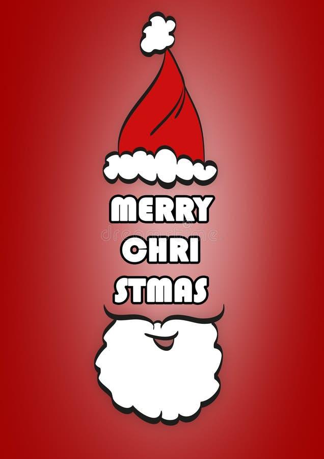 Fond typographique de Noël Joyeux Noël santa illustration de vecteur