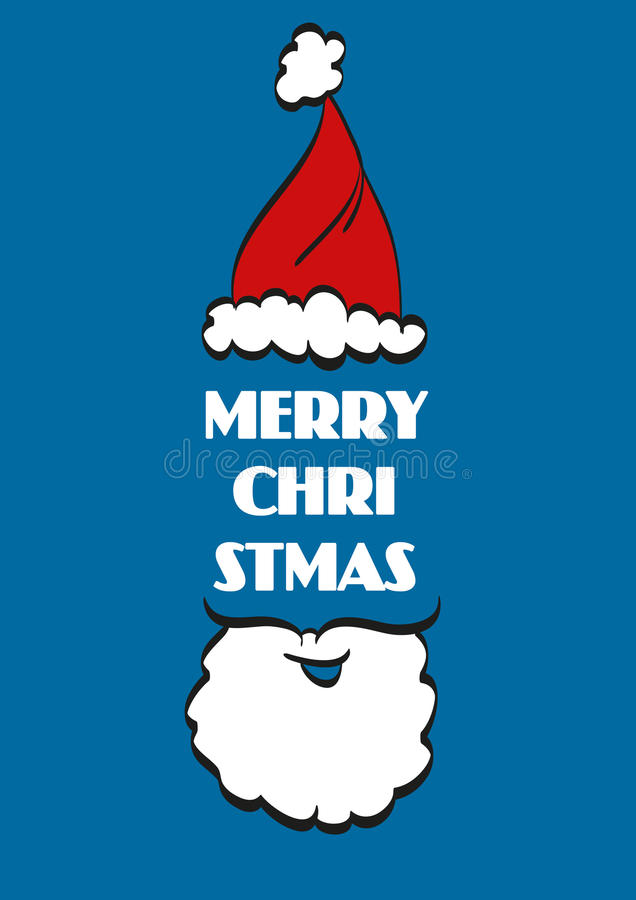 Fond typographique de Noël Joyeux Noël santa illustration stock