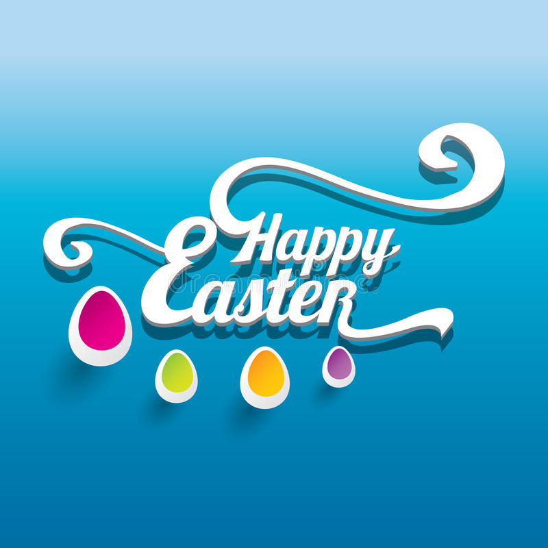 Fond typographique heureux de Pâques de vecteur illustration libre de droits