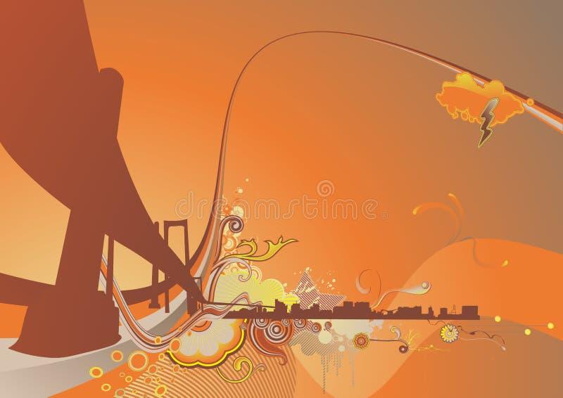 Fond urbain illustration stock
