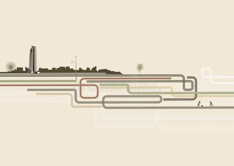 Download Fond urbain illustration de vecteur. Illustration du conception - 8671258
