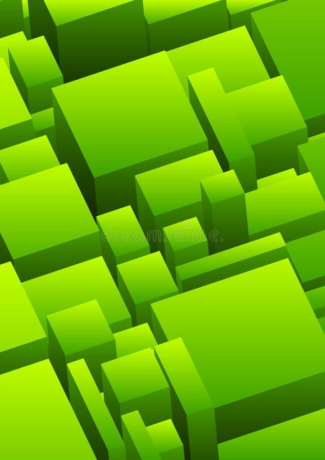 Fond urbain abstrait en vert illustration de vecteur