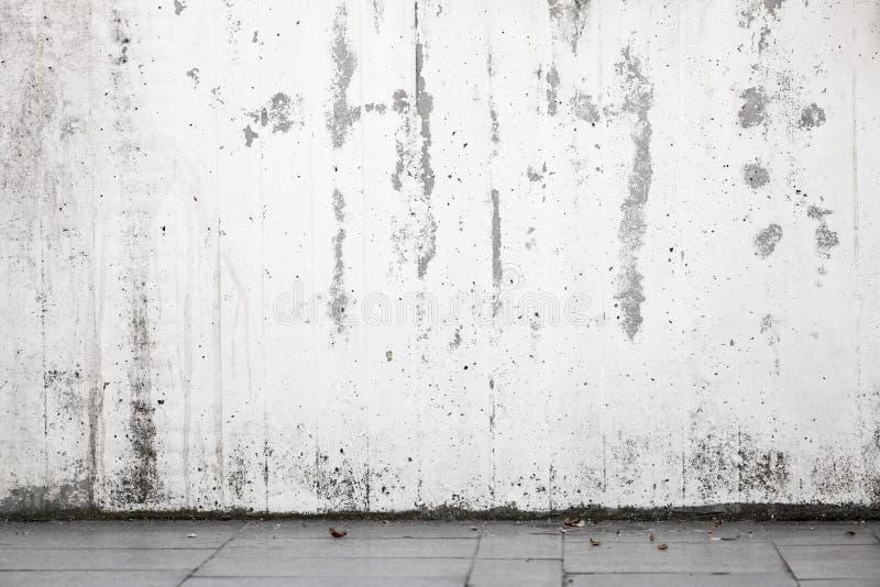 Fond urbain abstrait intérieur, mur blanc photographie stock libre de droits