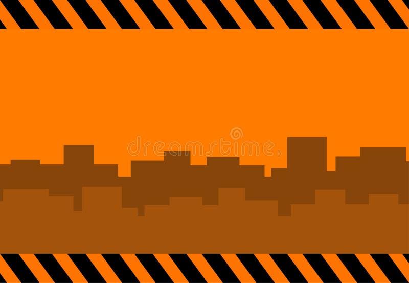 Fond de construction avec la ville illustration de vecteur