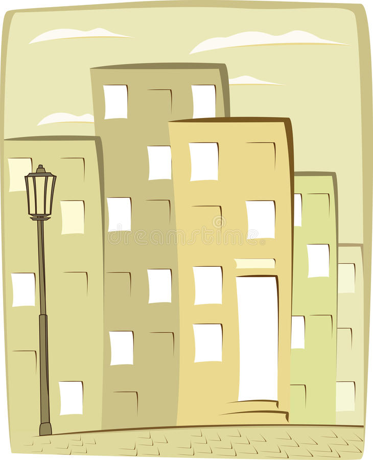 Fond urbain de dessin animé illustration stock