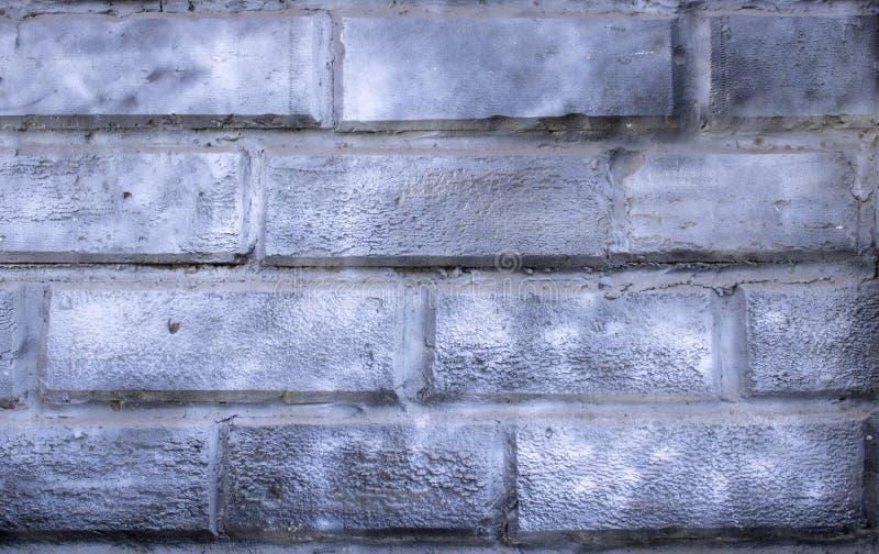 Fond urbain de mur de briques blanc grunge de texture rétro papier peint de cru de vieux contexte abstrait images libres de droits