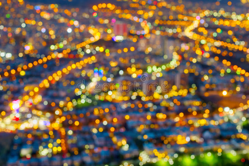 Fond urbain de tache floue de lentille de ville images libres de droits