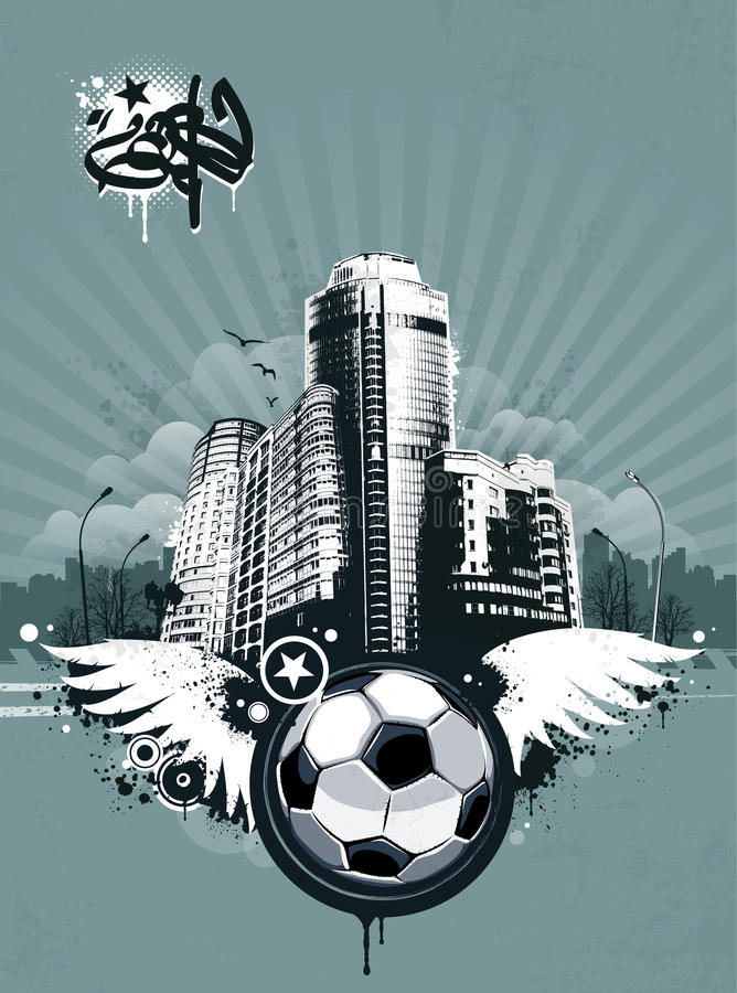 Fond urbain grunge du football illustration stock