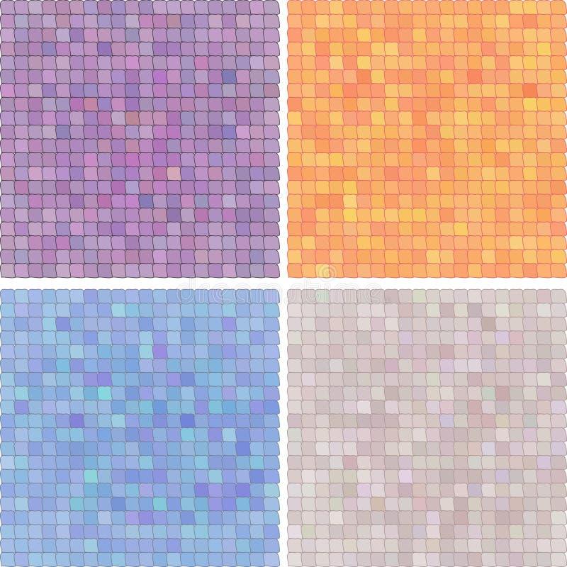 Fond-variation colorée pixelated par résumé illustration libre de droits