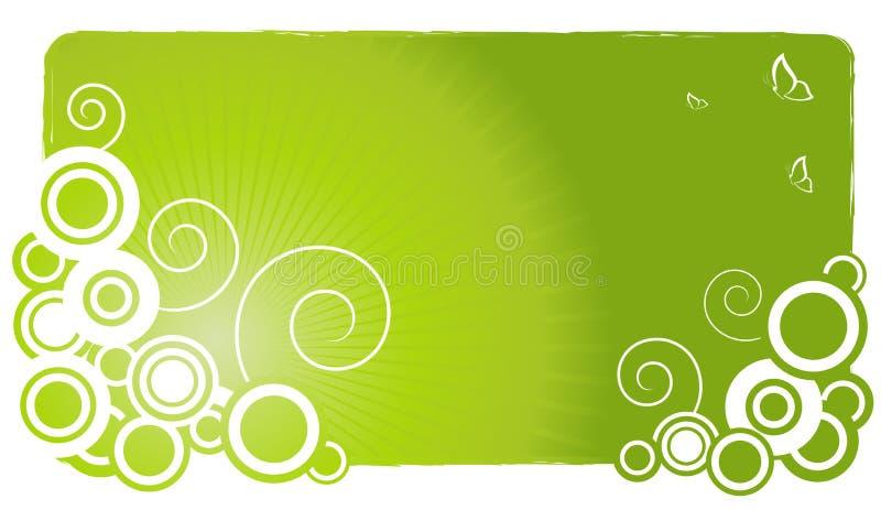 Fond vert abstrait illustration libre de droits