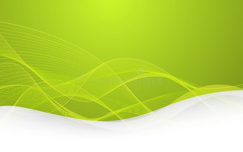 Fond vert abstrait avec des lignes Vecteur illustration de vecteur
