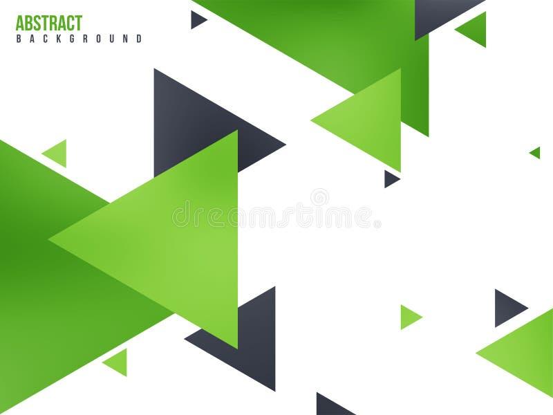 Fond vert abstrait avec des triangles illustration stock