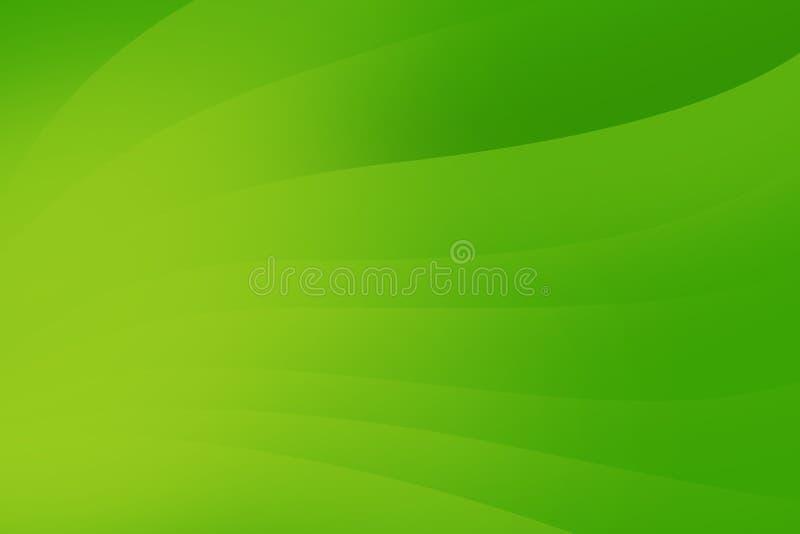 Fond vert abstrait avec les lignes douces, conception futuriste illustration libre de droits