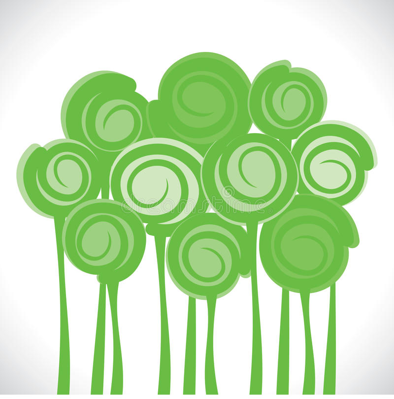 Fond vert abstrait d'arbre illustration stock