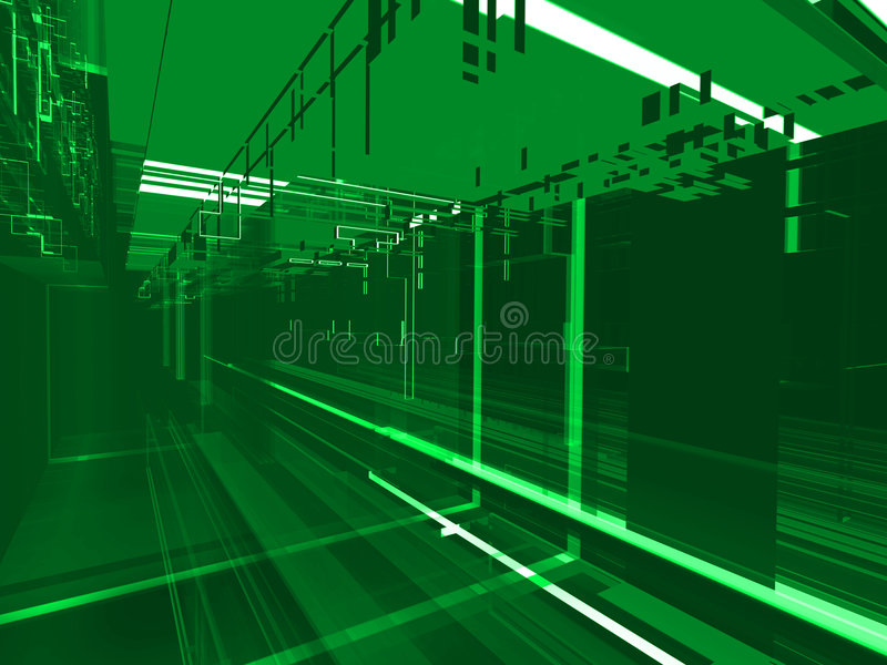 Fond vert abstrait de matrice illustration de vecteur