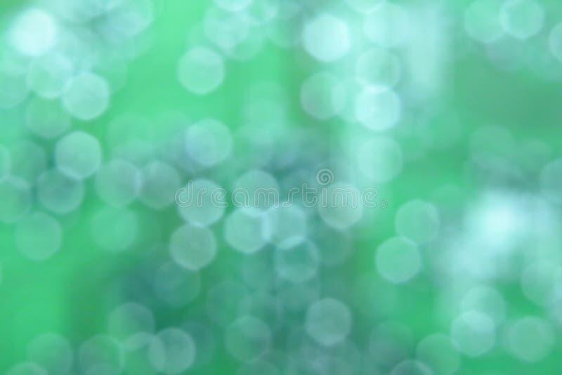 Fond vert abstrait naturel avec le bokeh circulaire Numéro 01 photos stock
