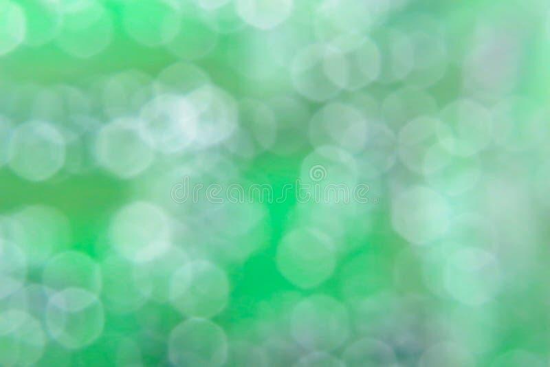 Fond vert abstrait naturel avec le bokeh circulaire Numéro 03 photo stock