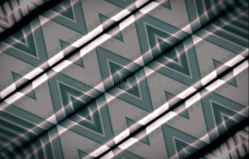 Fond vert abstrait Ornement des losanges sur une surface en bois peinte avec la peinture à l'huile illustration de vecteur