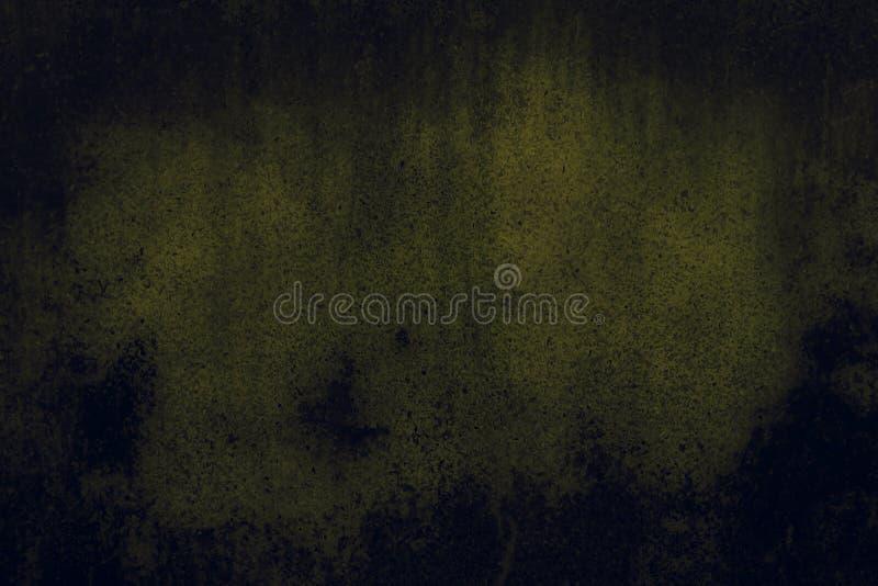 Fond vert abstrait ou fond noir avec un bon nombre de texture grunge affligée approximative de fond de cru images stock