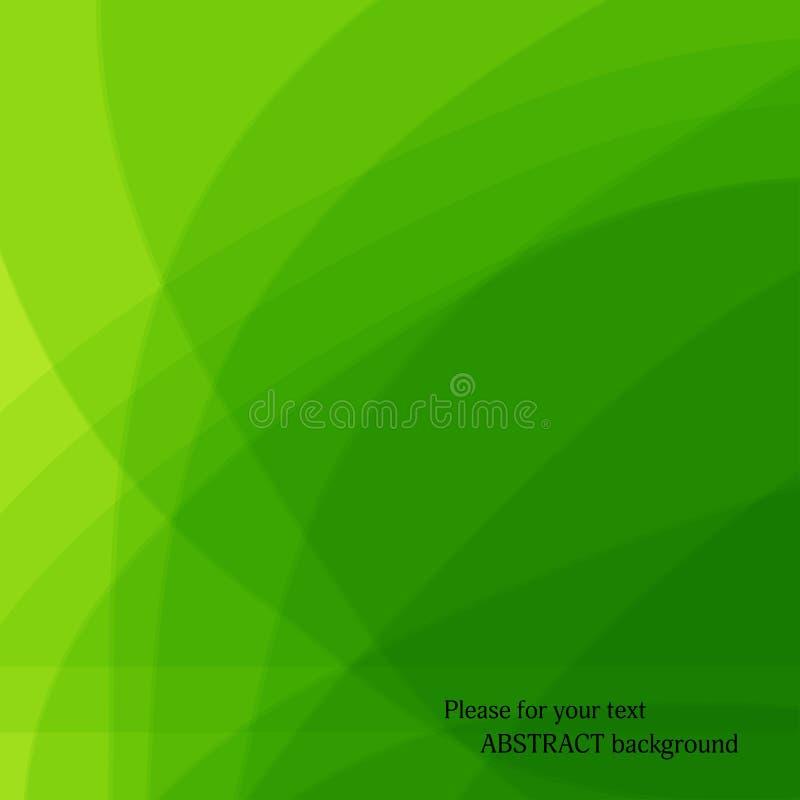Fond vert abstrait Vecteur illustration stock