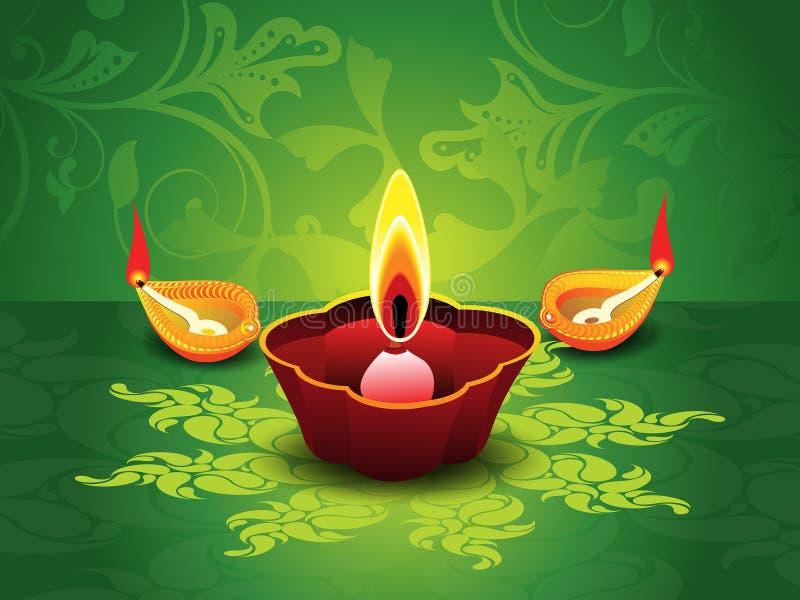 Fond vert artistique abstrait de diwali