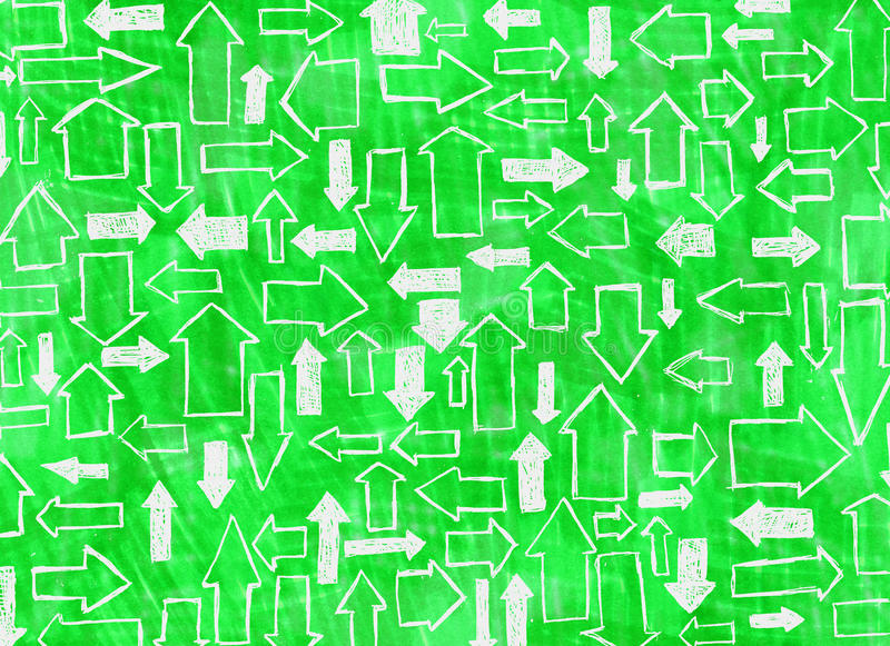 Fond vert avec des flèches photos libres de droits