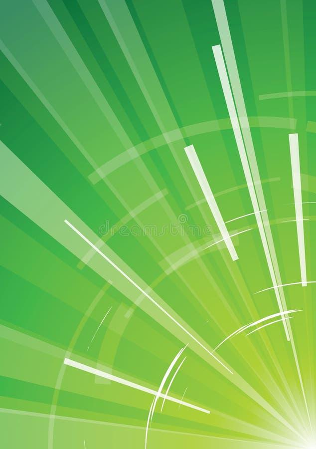 Fond vert avec des rayons illustration libre de droits